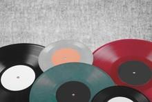 Record. Colorful Vinyl Records