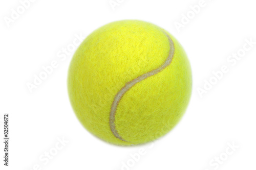 Deurstickers Bol Tennis ball isolated on white background.