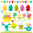 Happy Easter Love Design Elements