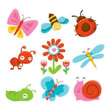 Happy Sweet Garden Bugs Icons