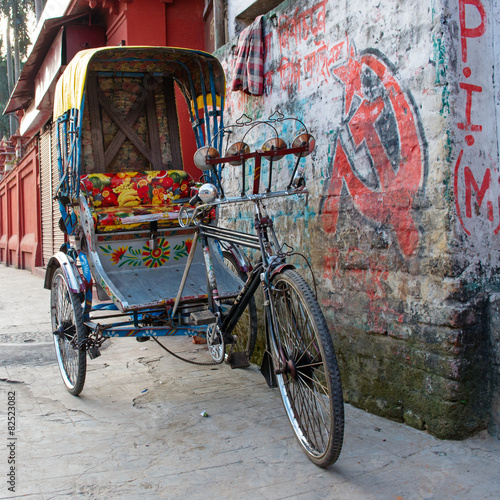 Fotografering  Traditional indian rickshaw