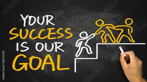 your success is our goal Wallpaper Mural