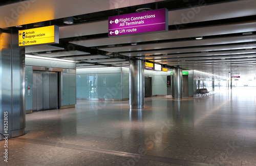 Aluminium Prints Airport London Heathrow Airport Interior