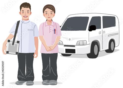 Fotografie, Obraz  訪問医療 Home medical care concept