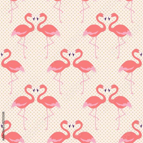 wzor-ptaka-bez-szwu-flamingo