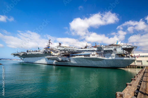 Photo  USS midway aircraft carrier
