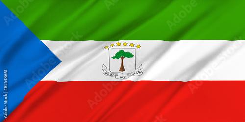 Fotografía  Flag of Equatorial Guinea