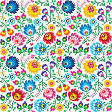 Seamless Polish Folk Art Flora...