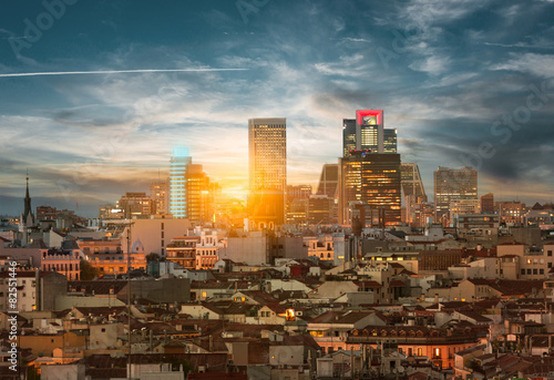In de dag Madrid Madrid skyline