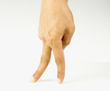 Fingers Walking On White Backg...