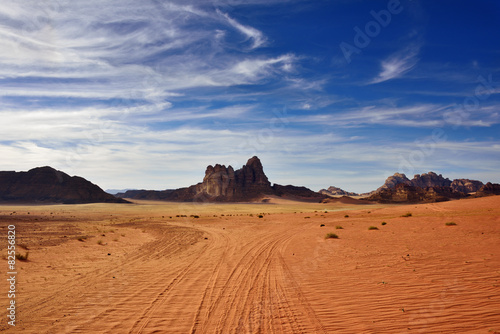 Photo sur Toile Desert de sable Wadi Rum desert