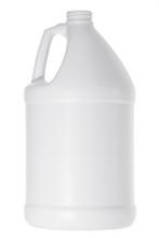 White Plastic Gallon Jug Isolated