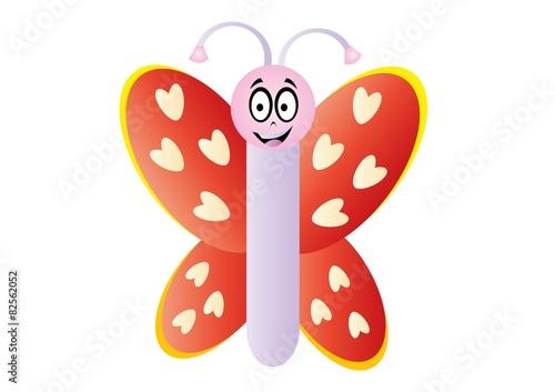 Motyl,motylek,miarka,owad,naklejka