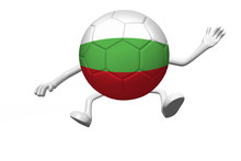 Cartoon Soccer Ball Concept