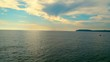 Ocean choppy sea waves .Beautiful blue Ocean water.