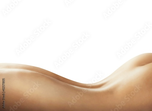 Naked woman back