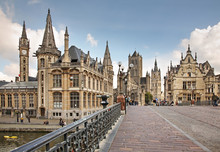 Historic Centre In Ghent. Flanders. Belgium