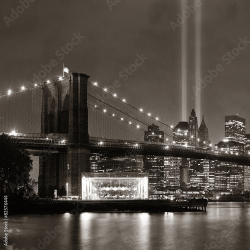 Fototapeten New York New York City night