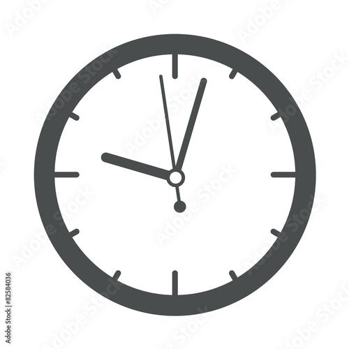Icono redondo reloj gris