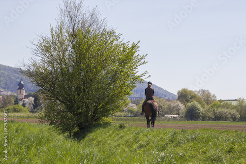 Acrylic Prints Horseback riding horse riding