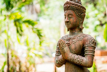 Thai Ancient Angel Act Like Paying Respect Or Sawasdee