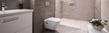 Beige Washroom Interior