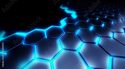 illustration honeycomb technology