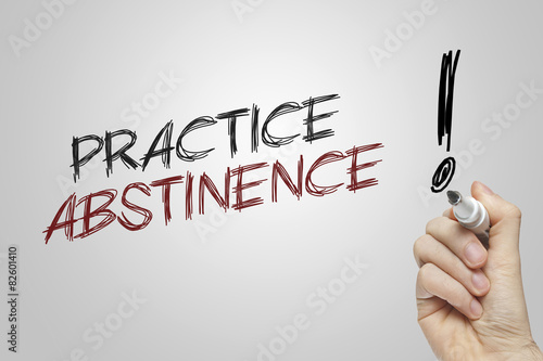 Hand writing practice abstinence Wallpaper Mural