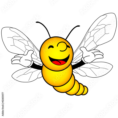 фотография insecte volant souriant