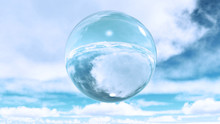 Glass Sphere In Clouds