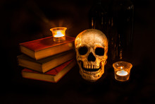 Vintage Skull And Novels By Ca...