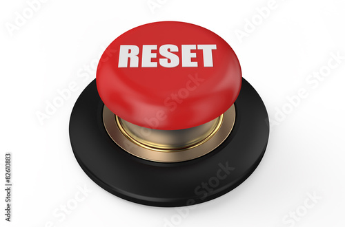 Fotografie, Obraz  reset red button