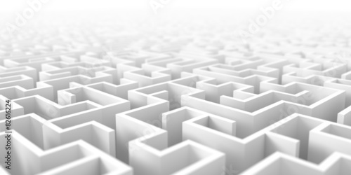 Maze background Canvas Print