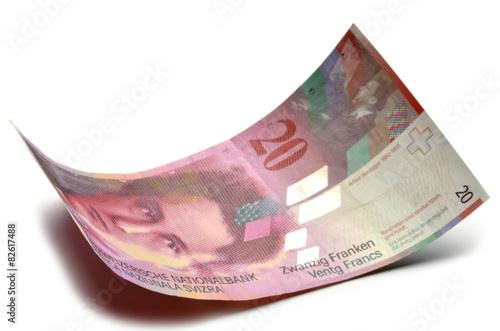 Obraz na plátně Schweizer Franken Franco svizzero Swiss franc