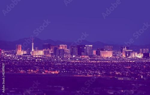 Plakat Las Vegas pejzaż nocą