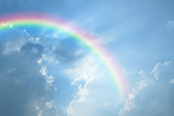 Fototapeta Rainbow - Blue sky and white cloud