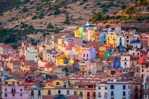 Photo  Colourful houses, Bosa, Sardinia, Italy, Europe