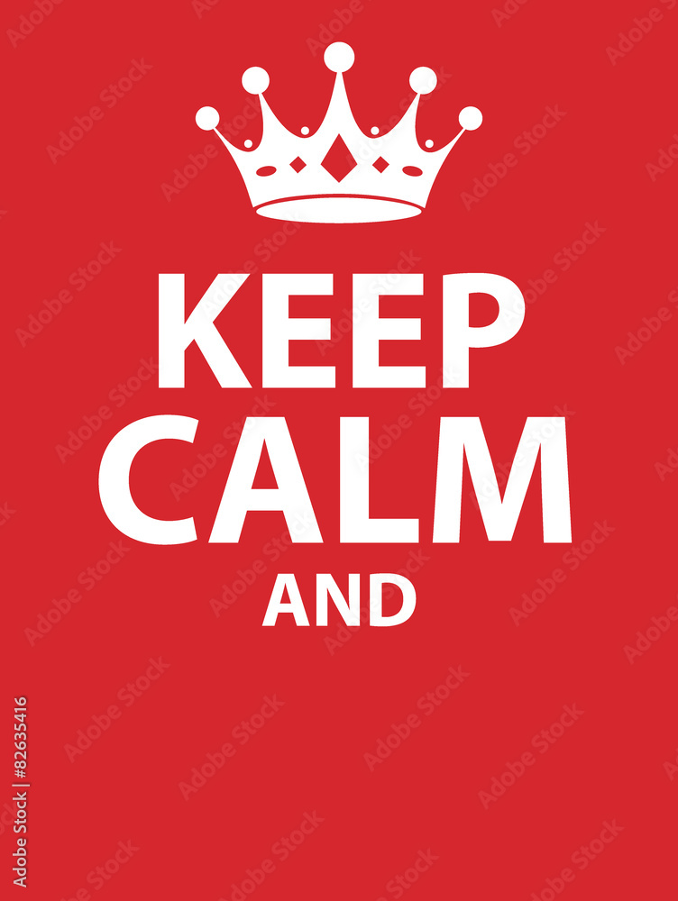 Fototapeta Keep calm poster