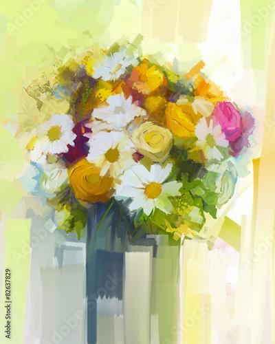 martwa-natura-bukiet-kwiatow-obraz-olejny