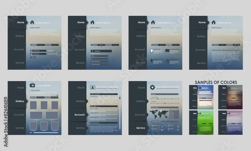 Obraz Design vector template interface - fototapety do salonu