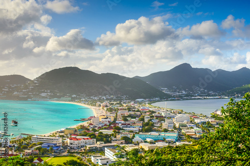 Recess Fitting Caribbean Philipsburg, Sint Maarten, cityscape at the Great Salt Pond.