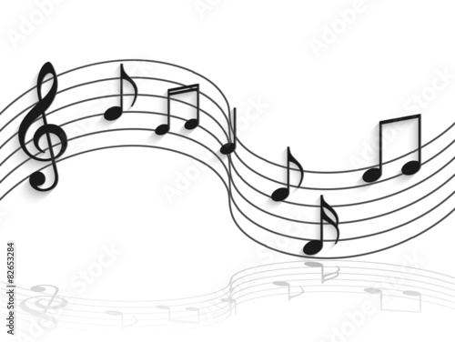 Fotografie, Obraz  Musical Notes Illustration