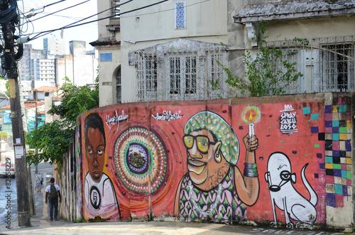 Fotografía  Graffiti en Salvador de Bahía, Brasil