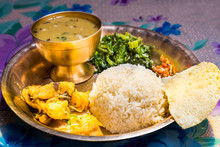 Dal Bhat, Traditional Nepali Meal Platter