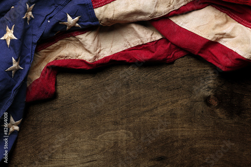 Photo  Old American flag background for Memorial Day or 4th of July