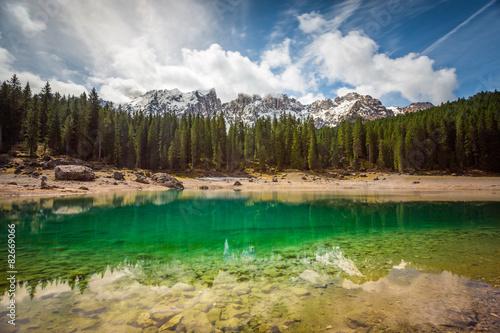 Poster Reflexion Lago di Carezza, Trentino Alto Adige