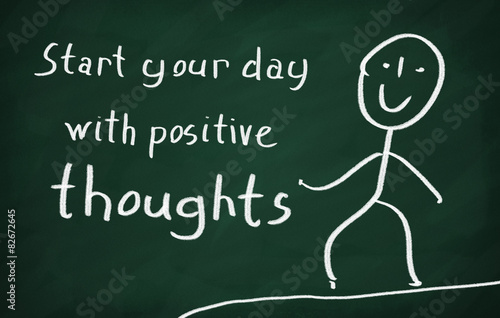 Fotografie, Obraz  Start your day with positive thoughts