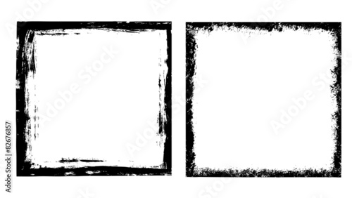 Grunge frames set Canvas Print