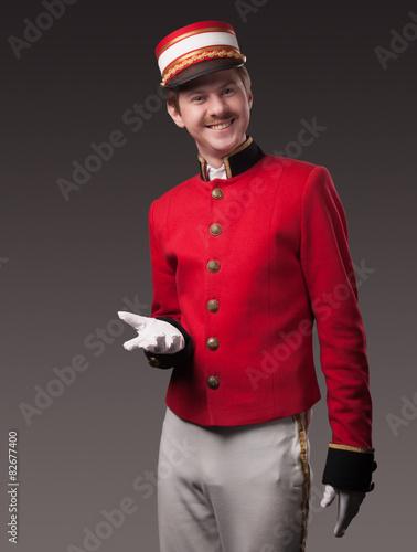 Fotografie, Obraz  Portrait of a concierge (porter)