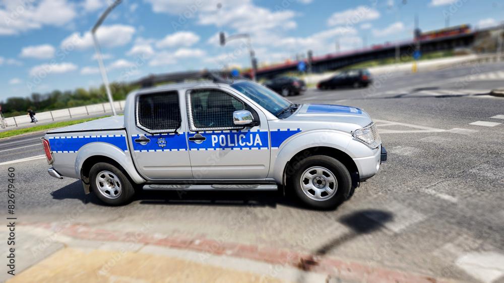 Fototapeta Policja